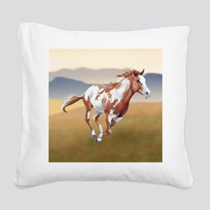 On The Run Square Canvas Pillow