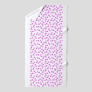 Pink Floral Sway Designer Beach Towel
