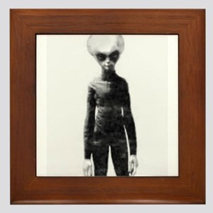 Skinny Bob Grey Alien Framed Tile