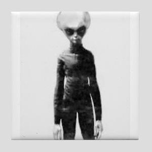Skinny Bob Grey Alien Tile Coaster