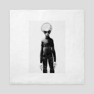 Skinny Bob Grey Alien Queen Duvet