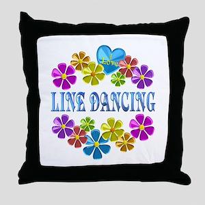 I Love Line Dancing Throw Pillow