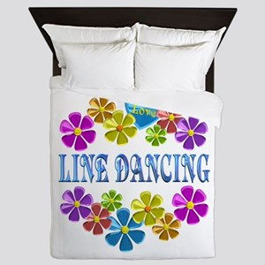 I Love Line Dancing Queen Duvet