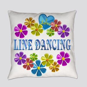 I Love Line Dancing Everyday Pillow