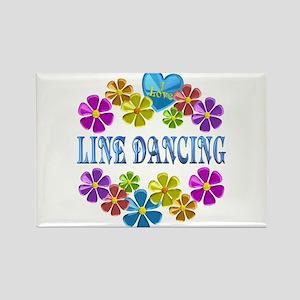 I Love Line Dancing Magnets