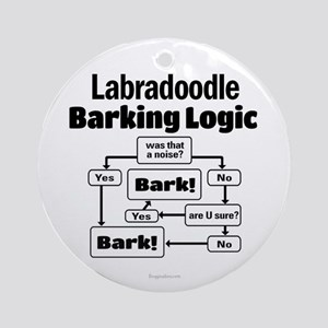 Labradoodle logic Ornament (Round)