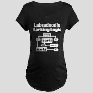 Labradoodle logic Maternity Dark T-Shirt
