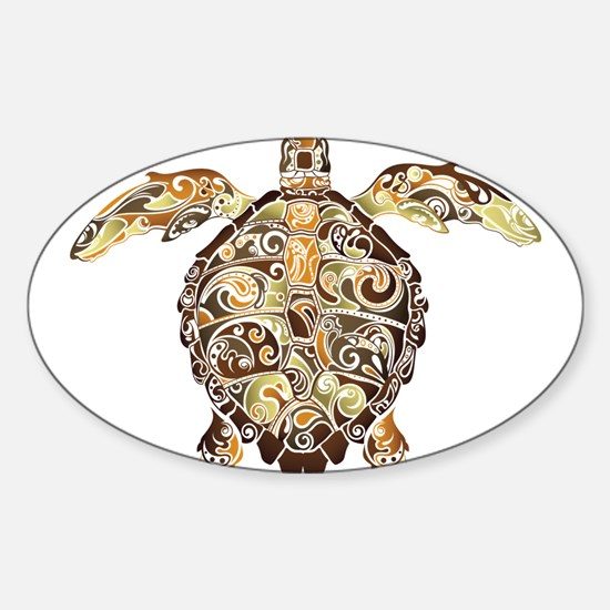 Filigree Turtle Decal