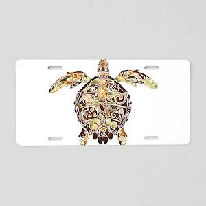 Filigree Turtle Aluminum License Plate