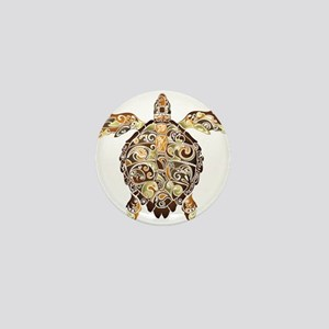 Filigree Turtle Mini Button