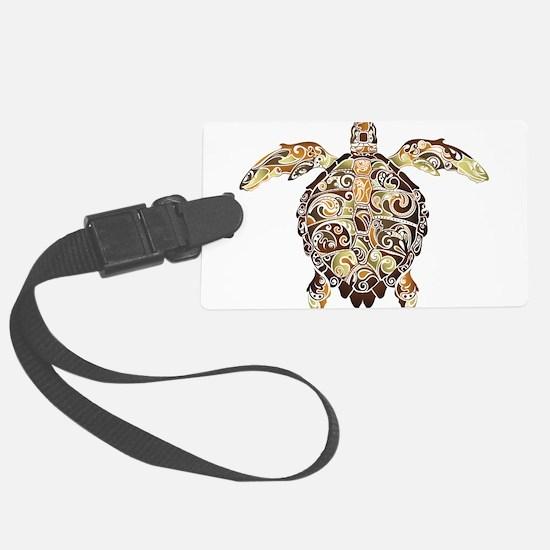 Filigree Turtle Luggage Tag