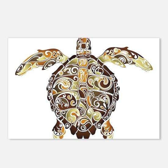 Filigree Turtle Postcards (Package of 8)