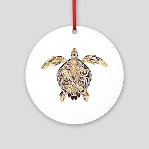 Filigree Turtle Ornament (Round)