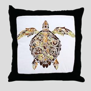 Filigree Turtle Throw Pillow