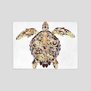 Filigree Turtle 5'x7'Area Rug