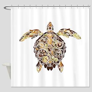 Filigree Turtle Shower Curtain