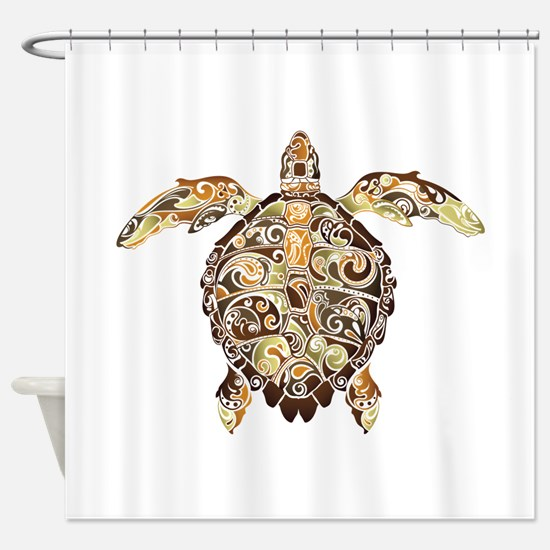 Filigree Turtle Shower Curtain