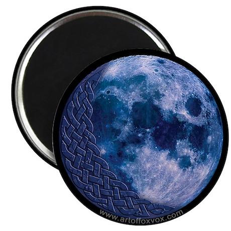 Celtic Knotwork Blue Moon Magnet