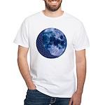 Celtic Knotwork Blue Moon White T-Shirt