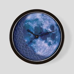 Celtic Knotwork Blue Moon Wall Clock