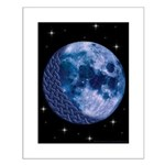 Celtic Knotwork Blue Moon Small Poster