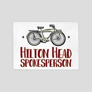 Hilton Head Bicycle 5'x7'Area Rug