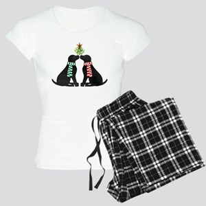 Black Labs Kissing Mistletoe Pajamas