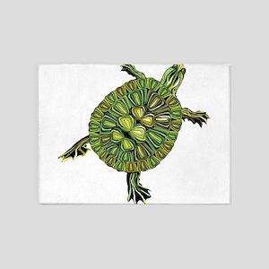 Multi Green Turtle 5'x7'Area Rug
