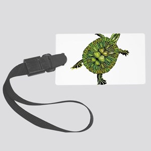 Multi Green Turtle Luggage Tag
