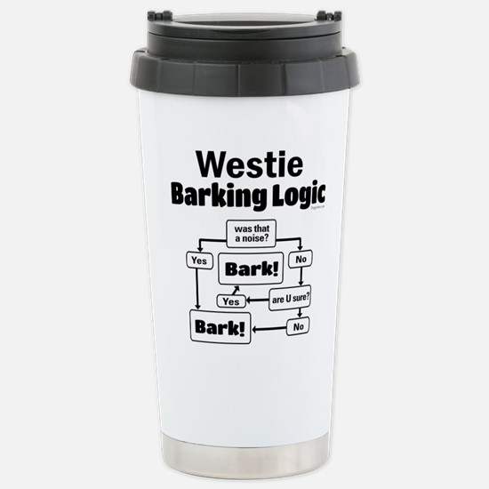 Westie Logic Stainless Steel Travel Mug