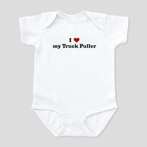 I Love my Truck Puller Infant Bodysuit