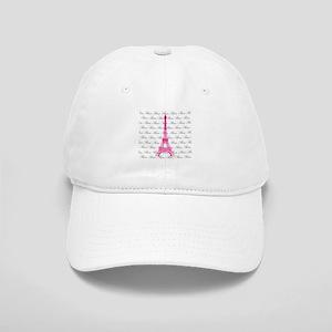 Pink and Black Paris Baseball Cap