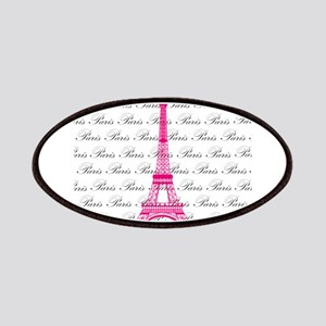 Pink and Black Paris Patches
