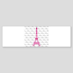 Pink and Black Paris Bumper Sticker