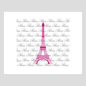 Pink and Black Paris Posters