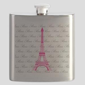 Pink and Black Paris Flask