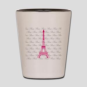 Pink and Black Paris Shot Glass