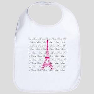 Pink and Black Paris Bib
