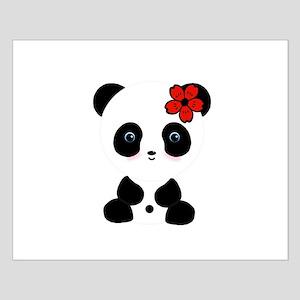 Red Flower Panda Posters