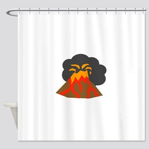 Erupting Volcano Shower Curtain