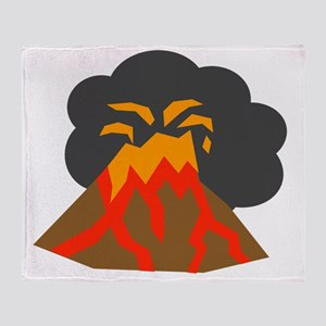 Erupting Volcano Throw Blanket