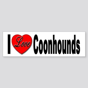 I Love Coonhounds Bumper Sticker