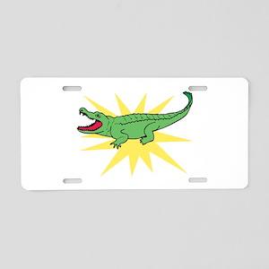 Sun Alligator Aluminum License Plate