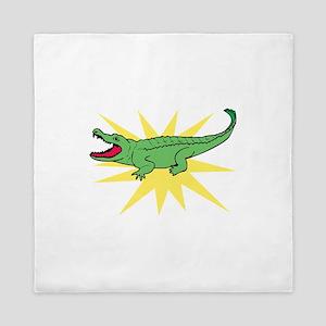 Sun Alligator Queen Duvet