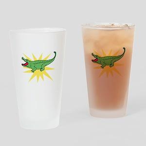 Sun Alligator Drinking Glass
