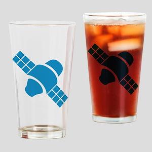 Blue Satellite Drinking Glass