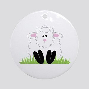 Little Lamb Ornament (Round)