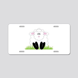 Little Lamb Aluminum License Plate