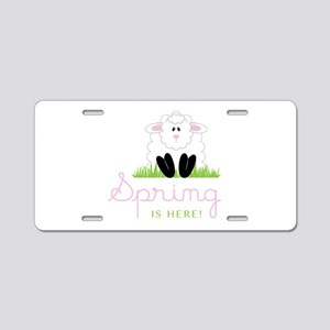 Spring is here Aluminum License Plate