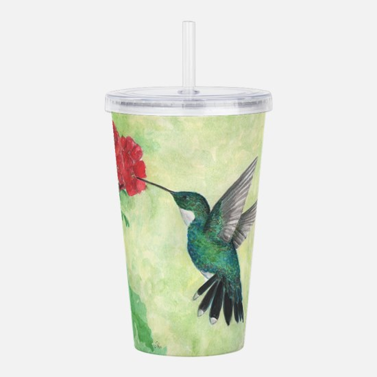 Cute Watercolor flowers Acrylic Double-wall Tumbler